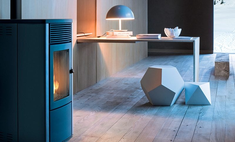 Brændeovne Herfølge Køge, brændeovn i minimalisktis stue